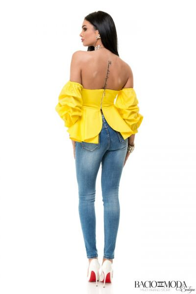 Top By Bacio Di Moda Yellow  COD: 1526